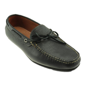 T.B. Phelps Verona Black Tumbled Waxy Leather Men's Driver Moccasin