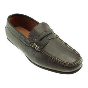 T.B. Phelps Sundance Mahogany American Bison Leather Men's Penny Loafer