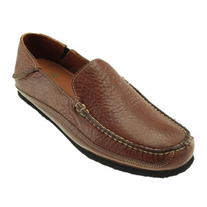 T.B. Phelps Ashby Walnut American Bison Leather Men's Slip On Shoes