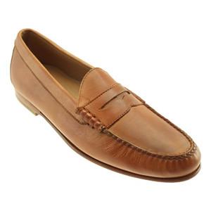 T.B Phelps Ventura Tan Genuine Soft Calfskin Men's Penny Loafer
