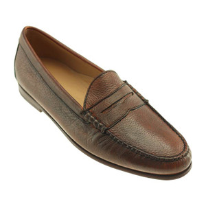 T.B Phelps Ventura Chestnut Genuine Deerskin Men's Penny Loafer