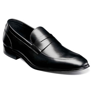 Florsheim Jetson Black Genuine Leather Men's Moc Toe Penny Loafer