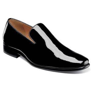 Florsheim Postino Black Patent Leather Men's Plain Toe Slip On