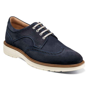 Florsheim Astor Navy Suede Leather Men's Wingtip Oxford