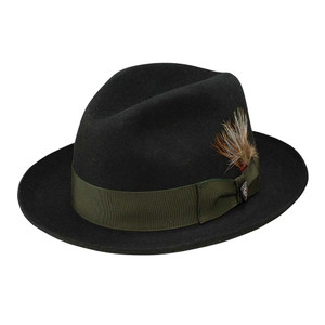 Dobbs Barrington Black Men's Fedora Hat
