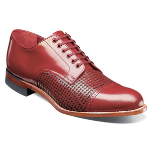 Stacy Adams Madison Red Kidskin Leather Men's Cap Toe Oxford