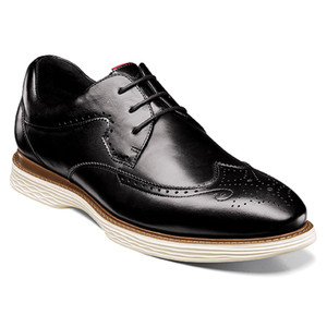 Stacy Adams Regent Black Smooth Leather Men's Wingtip Oxford