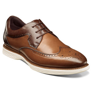Stacy Adams Regent Cognac Multi Smooth Leather Men's Wingtip Oxford
