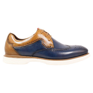 Stacy Adams Regent Ink Blue & Tan Smooth Leather Men's Wingtip Oxford