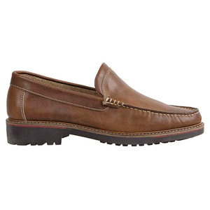 Sandro Moscoloni Neville Natural Leather Venetian Handsewn Men's Moc Toe Slip On Loafer