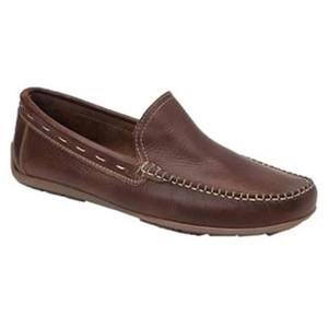 Sandro Moscoloni Sagres Brown Leather Baseball Stitch Men's Moc Toe Loafers
