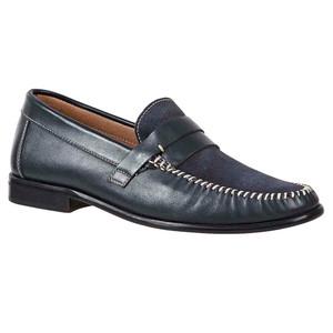 Sandro Mosoloni Jayson Grey Handsewn Men's Whipstic Moc Toe Slip On Loafers