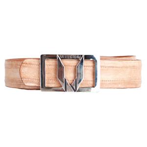 Vestigium Honey Genuine Jannry Men's Dress Belt with Silver Buckle