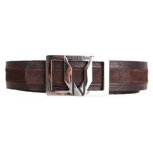 Vestigium Tobacco Genuine Suede & Calf Leather Men's Belt
