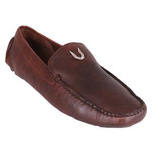 Vestigium Walnut Genuine Leather Men's Handcrafted Loafers