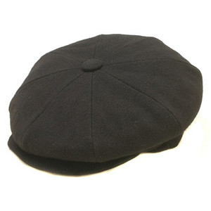Dobbs Black Wool Big Apple Cap
