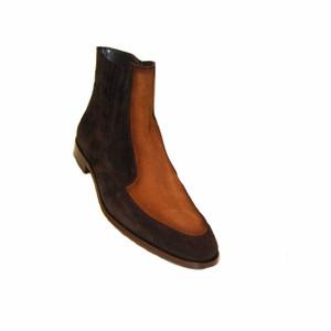 Corrente Black & Tan Suede Dual Tone Men's Zipped Boot