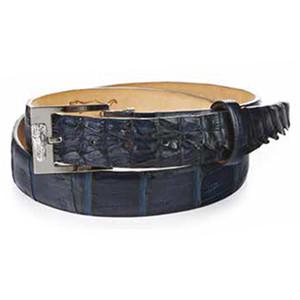 Mauri Predator Wonder Blue Baby Hornback Crocodile Men's Matching Belt