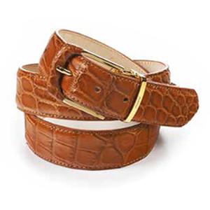 Mauri Preacher Cognac Body Alligator Men's Matching Belt