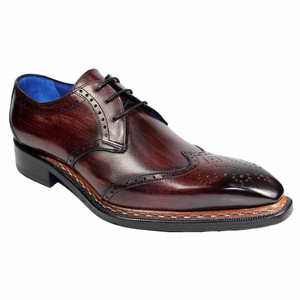 Emilio Franco Adamo Burgundy Wingtip Derby Shoes