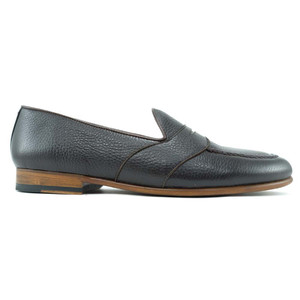 Alan Payne Barney Dark Brown Moc Toe Slip On Men's Penny Loafers