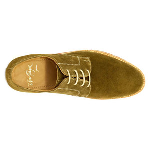 Alan Payne Buck Olive Suede Men's Lace-Up Shoes