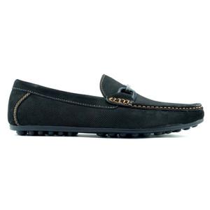 Alan Payne Como Black Nubuck Leather  Men's Slip-On Loafers