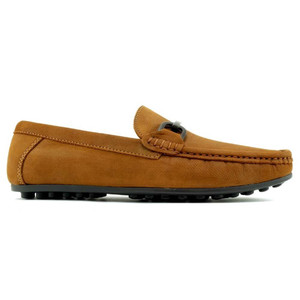 Alan Payne Como Rust Nubuck Leather Men's Slip-On Loafers