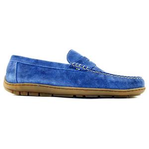 Alan Payne Edmond Blue  Men's Slip-On Driver Loafers