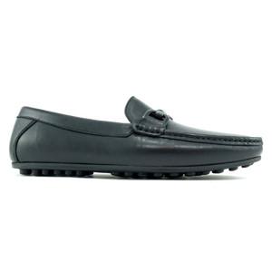 Alan Payne Garda Black Apron Toe Men's Slip-On Loafers