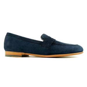 Alan Payne Meyers Navy Men's Apron Toe Loafers