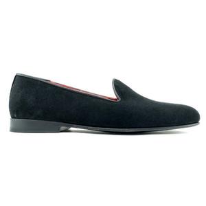 Alan Payne Simpson Black Suede Men's Slip-on Tux Shoe Loafers
