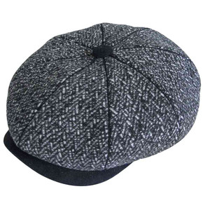 Dobbs Fall 2019 Overton Grey-Black Newsboy Men's Cap