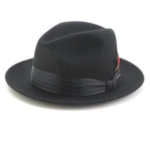 Dobbs Black Glen Cove Wool Fedora