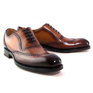 Ugo Vasare Charlton in Caramel Hand Burnished Men's Lace Up Leather Oxfords