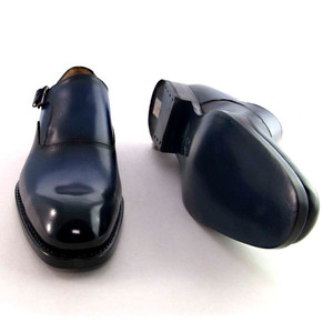 Ugo Vasare Fred in Navy Metal Buckle Men's Monkstrap Dress Shoe