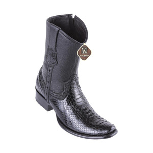 King Exotic Black Python Dubai Toe Handcrafted Men's Boot