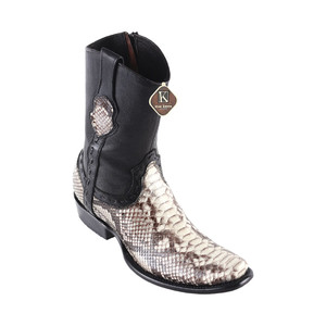 King Exotic Grey Python Dubai Toe Handcrafted Men's Boot