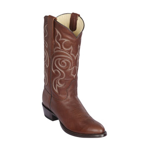 Los Altos Brown Punta Oval Grisly Leather Round Toe Men's Boot