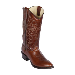 Los Altos Brown Round Toe Pull Up Leather Men's Boot