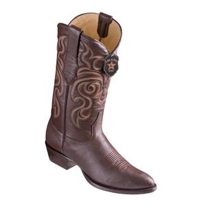 Los Altos Brown Goat Leather Round Toe Men's Boot