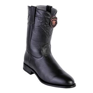 Los Altos Black Elk Leather Roper Men's Boot