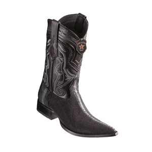 Los Altos Black Stingray Row Stone 3X Toe Men's Boot