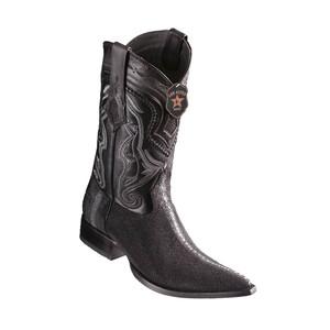 Los Altos Black Stingray Row Stone 3X Toe Men's Boot