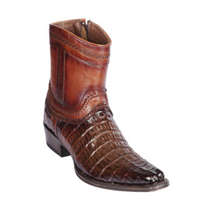 Los Altos Brown Caiman Tail Low Shaft European Square Toe Men's Boot