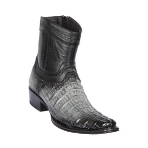 Los Altos Grey Caiman Tail Low Shaft European Square Toe Men's Boot