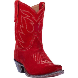 Dan Post Standing Room Only in Red Genuine Red Leather Women's Boots