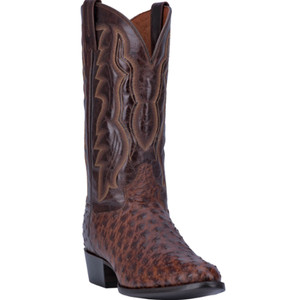Dan Post Pershing Brass Full Ostrich Quill Men's Boot
