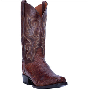 Dan Post Bayou Brass Genuine Caiman Tail Men's Boot
