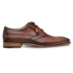 Mezlan Bertone Cognac Calfskin Men's Oxford